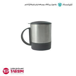 لیوان فلزی تبلیغاتی درب دار 2157